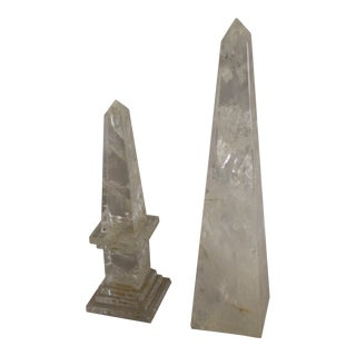 Rock Crystal Obelisk and Tall Point - 2 Pieces For Sale
