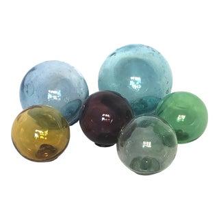 Antique Glass Fishing Floats - Set of 6