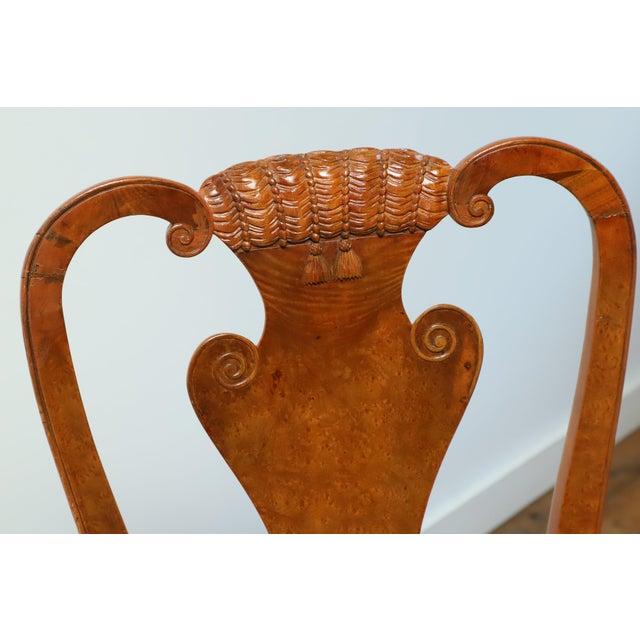 W. & J. Sloane Original 1930s Burlwood Maple Side Chair For Sale - Image 4 of 11
