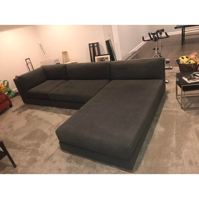 Blue Donghia Sectional Sofa For Sale - Image 8 of 9