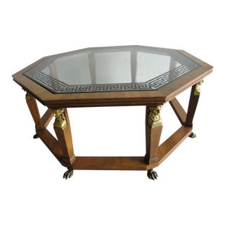 1960s Traditional Baker Furniture Octagonal Coffee Table For Sale