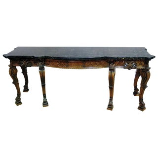 20th Century Georgian Style Monumental Console Table For Sale