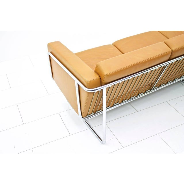 1970s Rare Four-Seat Leather Sofa by Hans Eichenberger for Strässle, Switzerland For Sale - Image 5 of 9