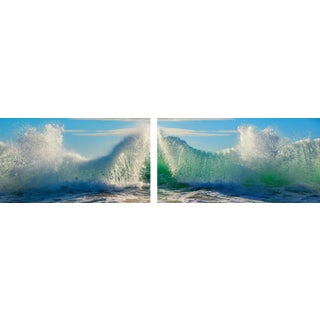 """""""Saltwater Slinky - Diptych"""" Contemporary Seascape Diptychy Photograph by George Diebold - Set of 2 For Sale"""