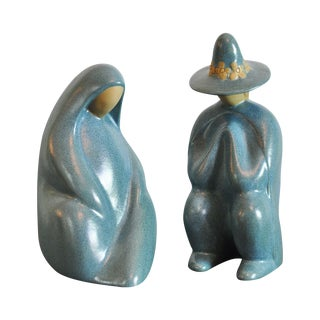 Jack Black Navajo Ceramic Sculptural Pair For Sale