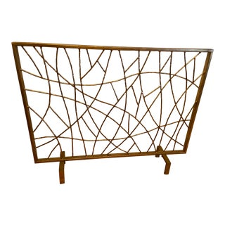 Horchow Golden Twig Fireplace Screen For Sale
