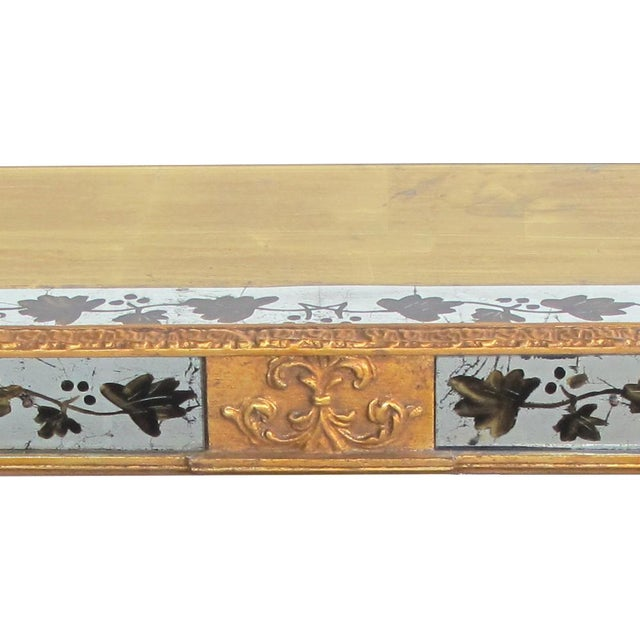 Neoclassical A French Maison Jansen neoclassical style 1940's eglomise console table For Sale - Image 3 of 5