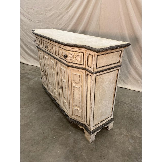 Italian Painted Credenza Buffet - Early 20th C For Sale - Image 4 of 12