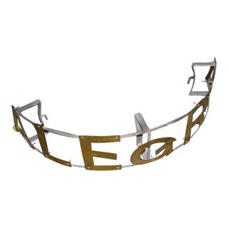 Curved Metal Brass Sign