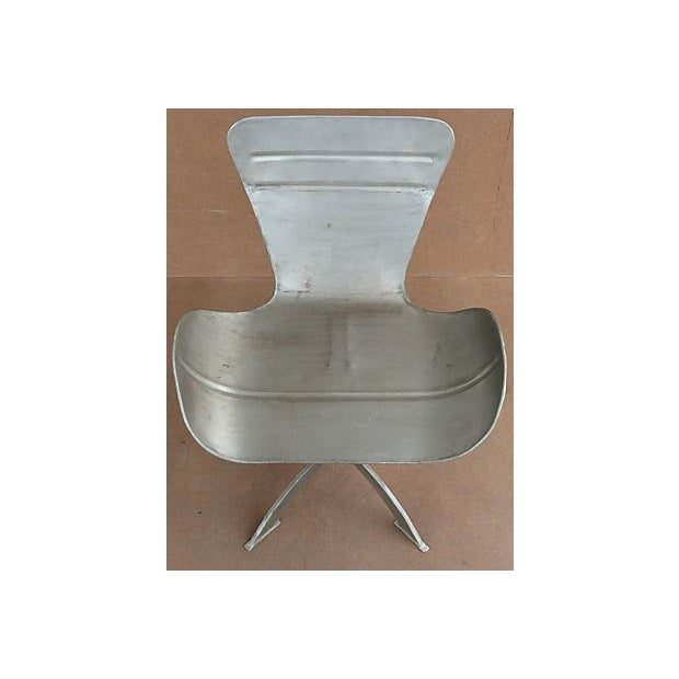 Artist-Sculpted Industrial Aluminum Chair - Image 8 of 9