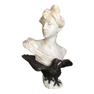 19th Century Neoclassical Georges Morin Bust For Sale