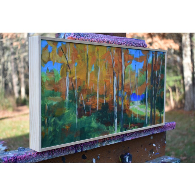 """""""Autumn by the River"""" Acrylic Painting by Stephen Remick For Sale In Providence - Image 6 of 9"""