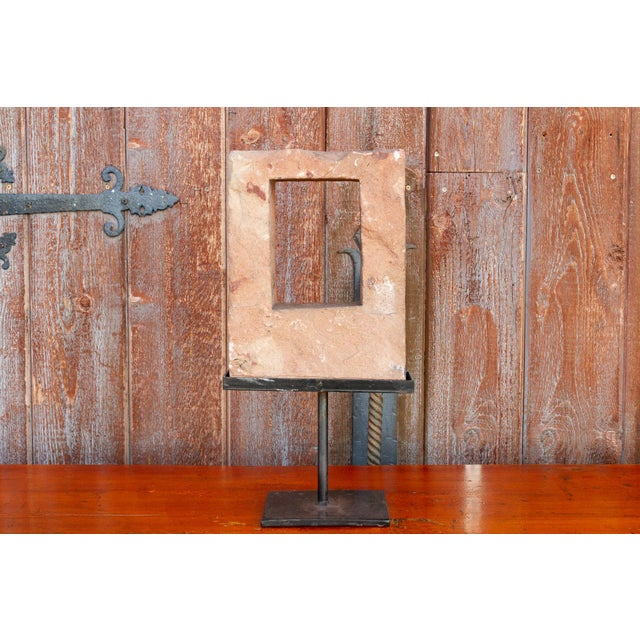 Metal 19th Century Architectural Niche on Stand For Sale - Image 7 of 9
