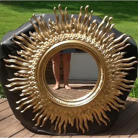 Bring the sunshine indoors with this simulated sunburst mirror made by Syroco in the disco days of the 70's. The sunburst...