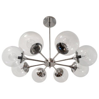 1960s Vintage Lightolier American Space Age Sputnik Pendant For Sale