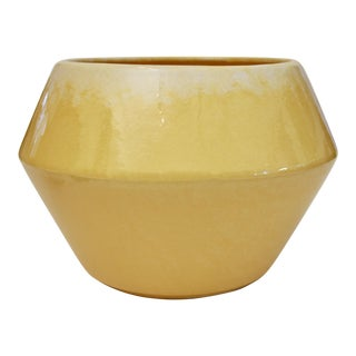 Sunny Yellow Midcentury Modern California Pottery Planter