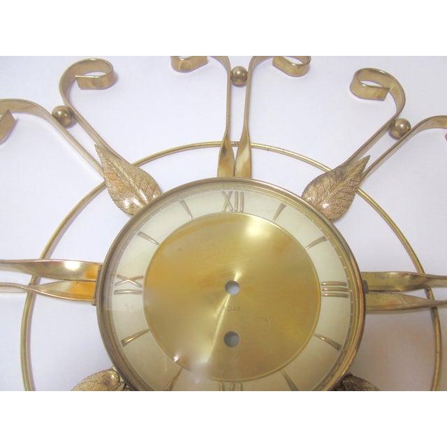 Mid Century Modern Hollywood Regency Atomic Clock - Image 3 of 11