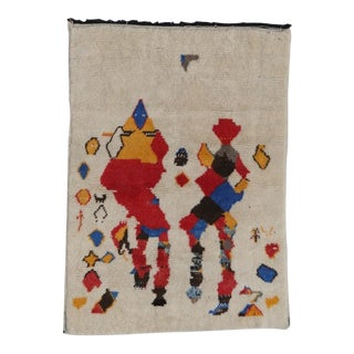 Modern Abstract Moroccan Rug-6.4' X 4.6' For Sale
