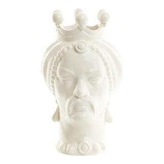 Sicilian Head Small, Schittone Modern Moro For Sale
