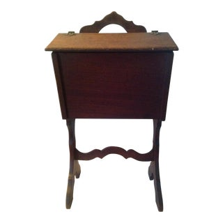 Vintage Victorian Sewing Cabinet 1900s
