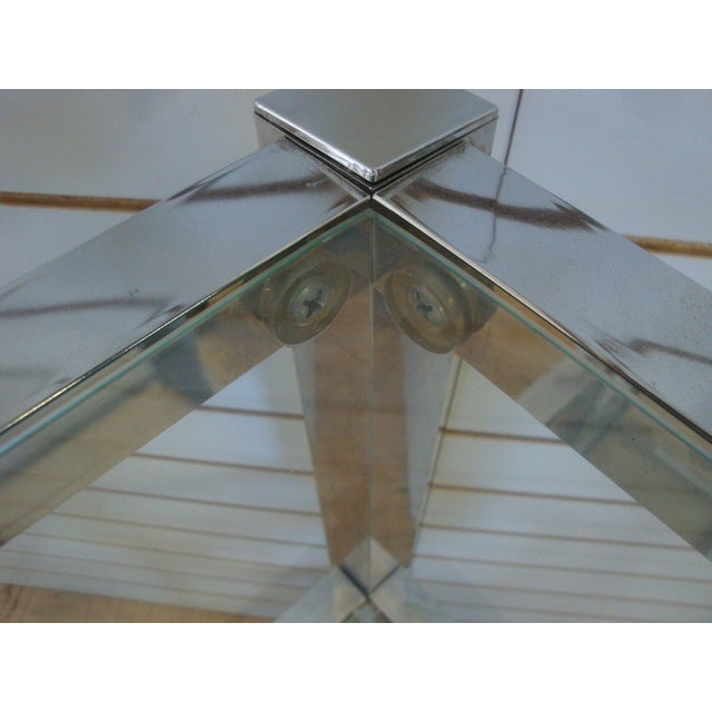 Contemporary Chrome and Glass Floating Cubic Etagere Shelf, Milo Baughman For Sale - Image 3 of 4