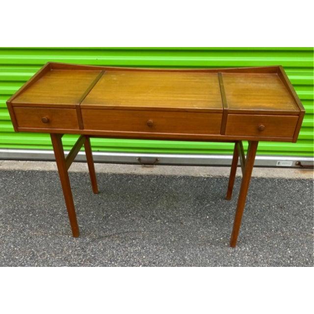 Brown Danish Mid-Century Modern Teak Vanity Dressing Table For Sale - Image 8 of 8