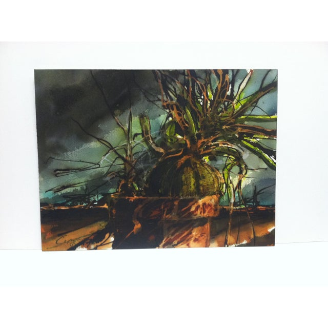 "This is an Original Painting on Paper that is titled ""Exploding Plant"" by Cepray. The Painting is in Very Good Condition..."