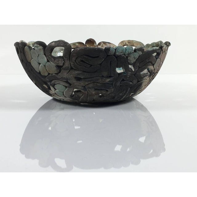 Late 20th Century Mid Century Modern Abstract Ceramic Table Centerpiece Bowl For Sale - Image 5 of 10