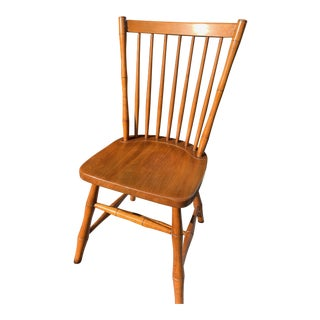 1960s Vintage Original Leopold Stickley Cherry Wood Windsor Chair For Sale