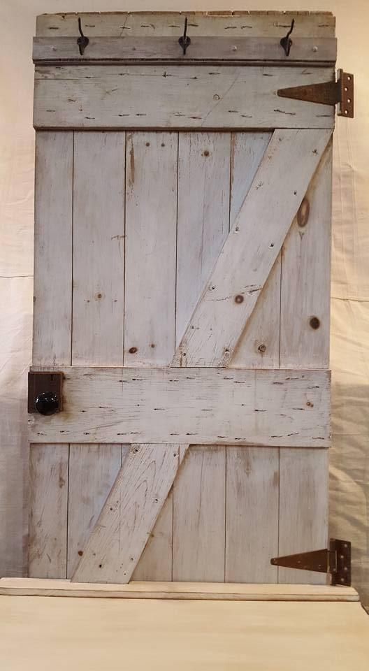 Country Style Custom Made Hall Tree Barn Door   Image 5 Of 7