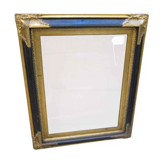 Antique Black & Gold Painted Wooden Frame