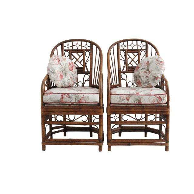 Bamboo Style Armchairs - Pair - Image 2 of 4