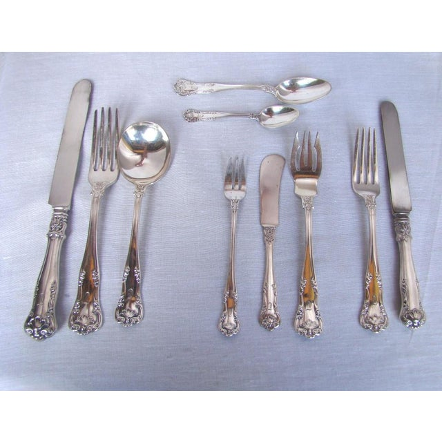 Metal Gorham Electroplate Flatware in Box, Service for 6 - 71 Pieces For Sale - Image 7 of 11