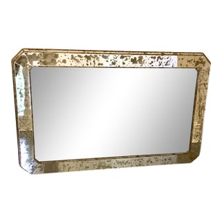 Italian Art Deco Custom Egomisé Wall Mirror For Sale
