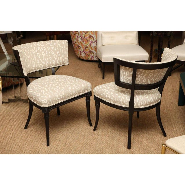These delightful side chairs have an unusual beaded wood detail, that is pierced carvings to the apron of the front of the...