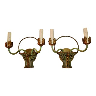 Antique French Turn of the Century Sconces - a Pair For Sale