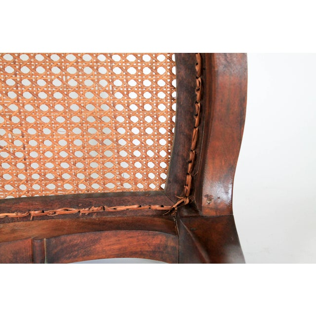 Caned French Provincial Bench - Image 9 of 11