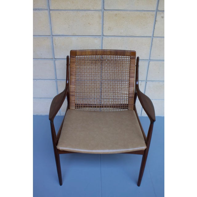 Kofod Larsen Cane Back Lounge Chair For Sale - Image 4 of 11
