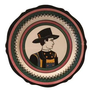 Antique Henriot Quimper Plate For Sale