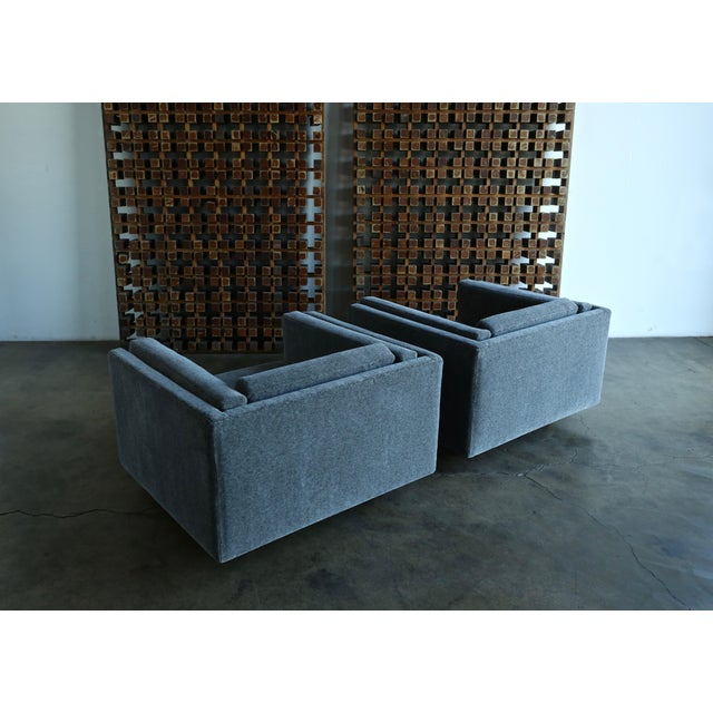 Gray 1960s Harvey Probber Grey Mohair Lounge Chairs - a Pair For Sale - Image 8 of 13