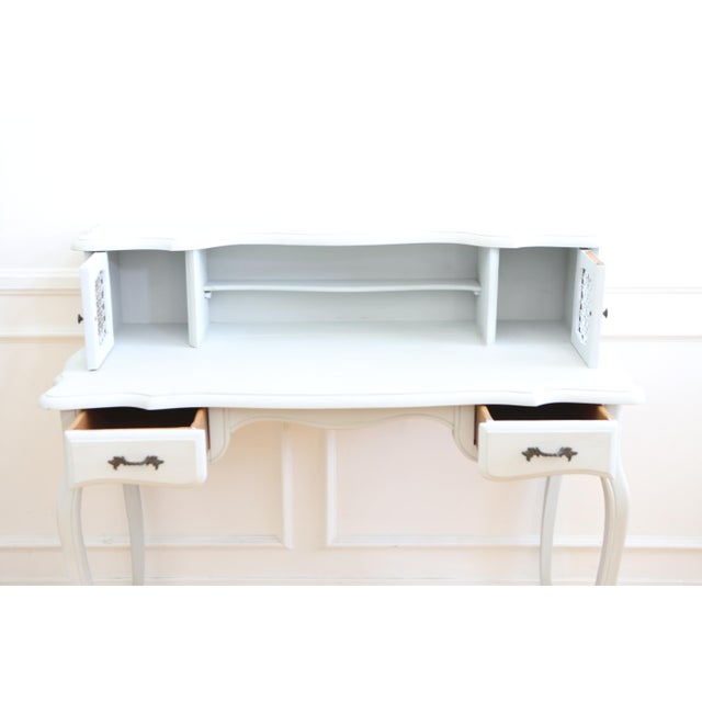 1960s Vintage Distressed Writing Vanity Desk For Sale - Image 5 of 9