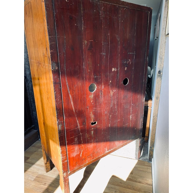 Brown Mid 20th Century Vintage Chinese Armoire For Sale - Image 8 of 13