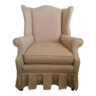1960s Vintage Upholstered Wingback Chair For Sale