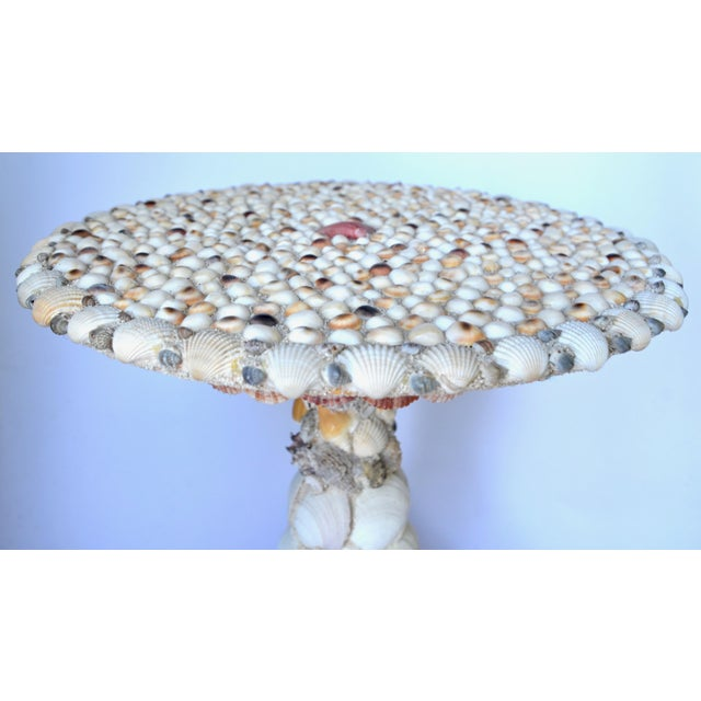 Elegant Seashell Encrusted Side Table For Sale In Los Angeles - Image 6 of 8