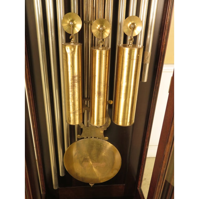 Vintage Jacques II Tube Mahogany Grandfather Clock For Sale In Philadelphia - Image 6 of 11