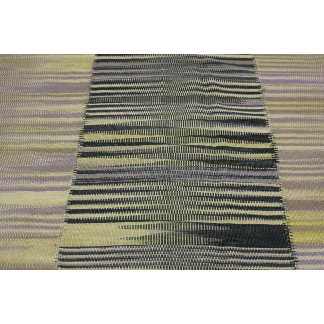 """Contemporary Hand Knotted Patchwork Kilim - 8'4"""" x 6'10"""" For Sale - Image 3 of 5"""