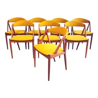 Mid-Century Danish Modern Kai Kristiansen Dining Chairs - Set of 8 For Sale