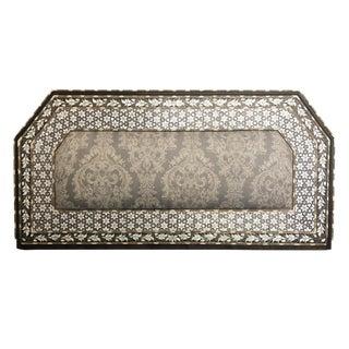 1950s Moorish Mother of Pearl Inlay Bed Headboard For Sale
