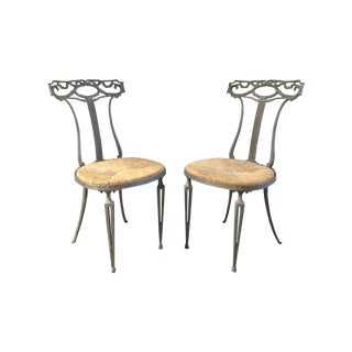 Palladio Italian Neoclassical Metal Chairs - Pair