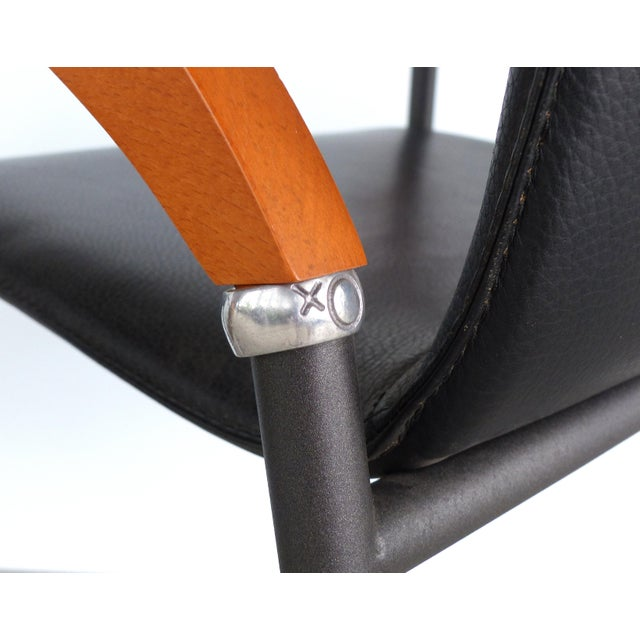 Animal Skin Metal , Wood & Leather Armchairs for Xo Design-Set of 4 For Sale - Image 7 of 9
